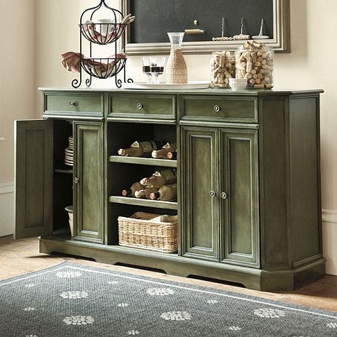 Green Painted Buffet