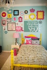Girl's Bedroom Gallery Wall