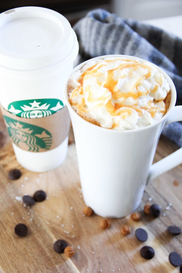 Copycat Recipe for Starbucks Salted Caramel Hot Chocolate