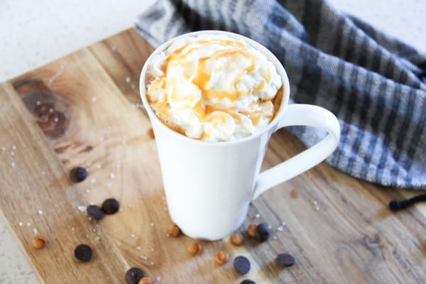 Copycat Starbucks Salted Hot Chocolate