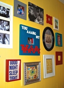 Boy's Pirate Gallery Wall