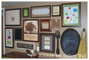 Kitchen Art Gallery Wall