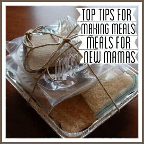 Tips for making meals for new moms