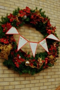 Wreath with Christmas Carols