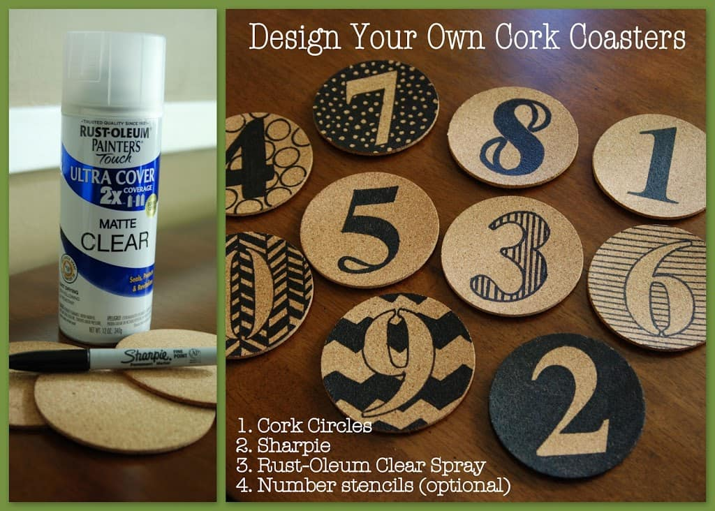 Design Your Own Cork Coasters With A Sharpie And Cork Circles - Coasters with photos on them
