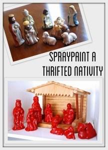 Spray Painted Nativity