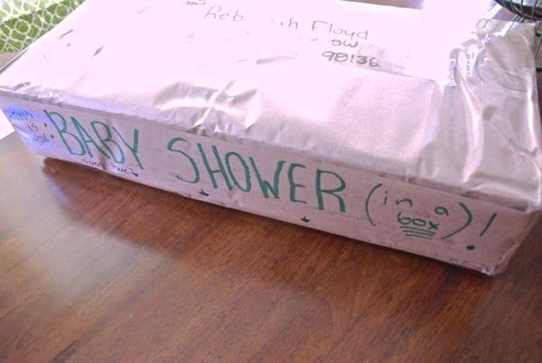 Baby Shower Sent Via Mail
