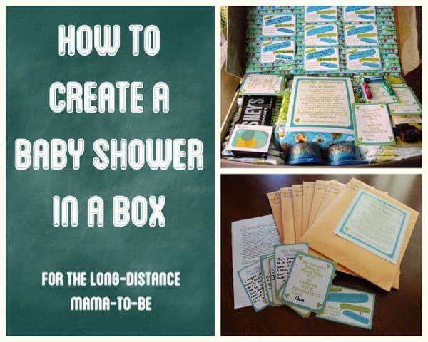 Wonderful Baby Shower In A Box For A Long Distance Mom