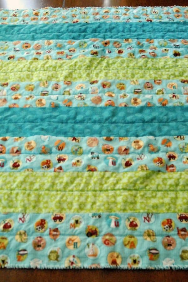 How to Make a Flannel Strip Rag Baby Quilt