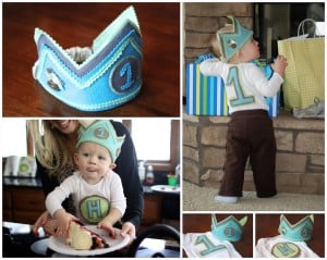 Felt Birthday Crowns and Onesies