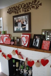 Our Valentines Mantel