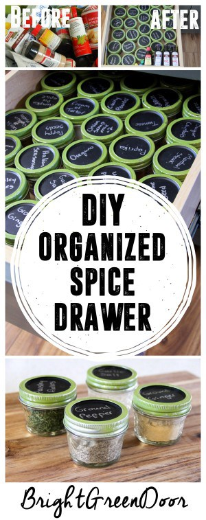 DIY Organized Spice Drawer