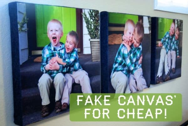 Fake Canvas' for Cheap