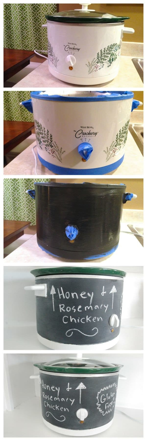 Chalkboard Paint your Crockpot