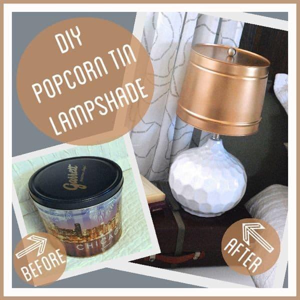 DIY Popcorn Tin Lampshade