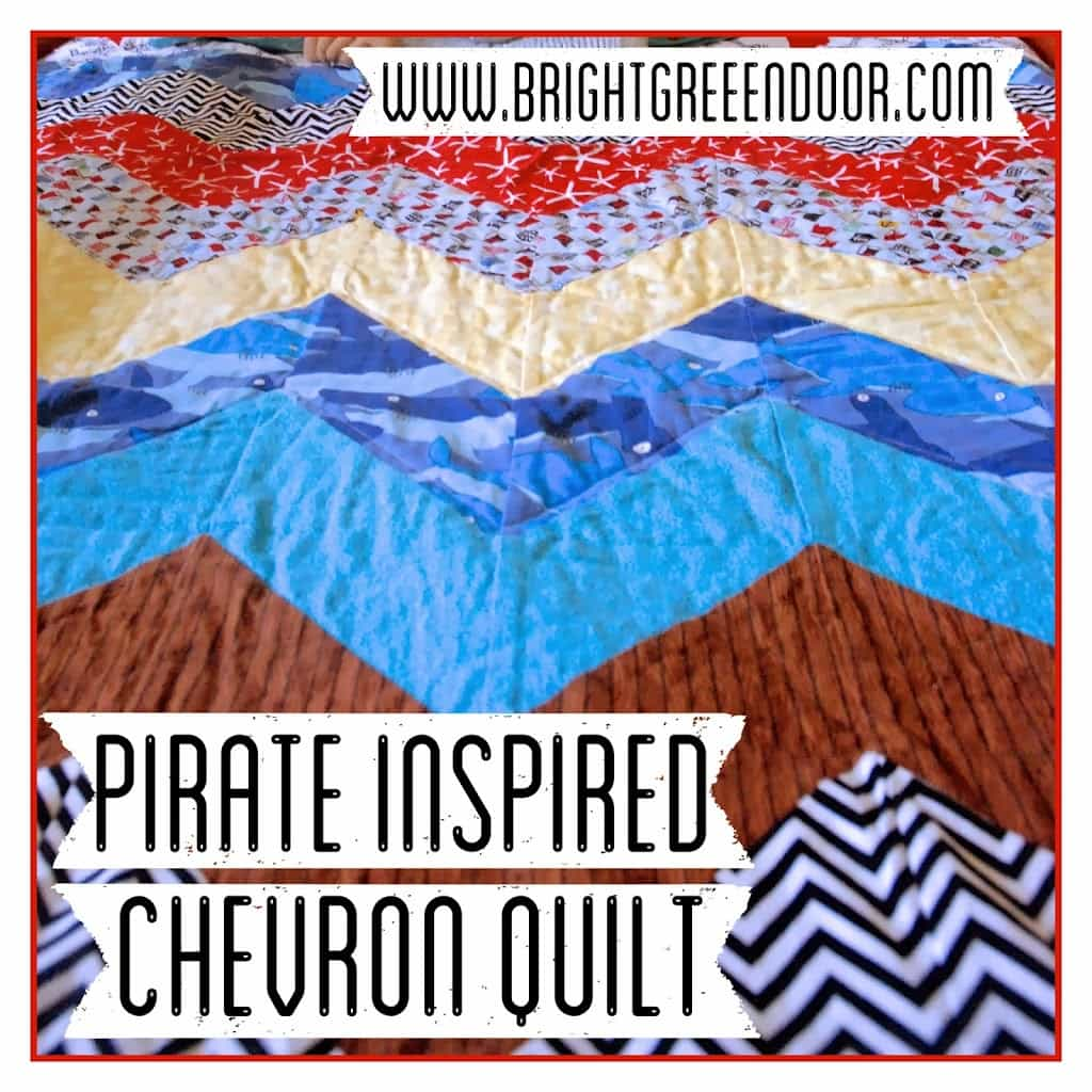 Pirate Inspired Chevron Quilt