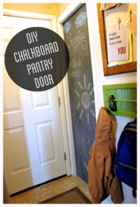 DIY Chalkboard Pantry Door