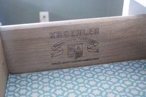 Kroehler Vintage Wood Dresser