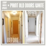 Paint Wood Trim White for a Cheap House Update