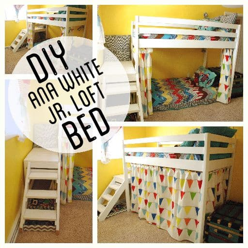 DIY Kid's Loft Bunk Bed with Stairs