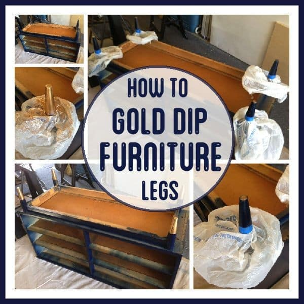 How to Gold Dip Furniture Legs