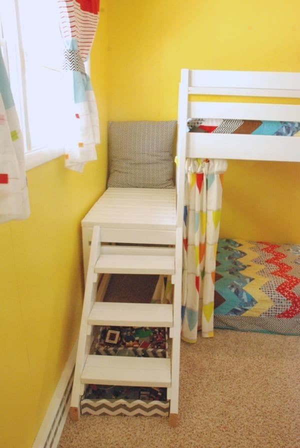 Kids Bed with Stairs and Platform