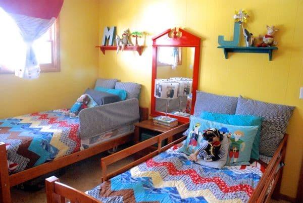 Bright Shared Kids Bedroom