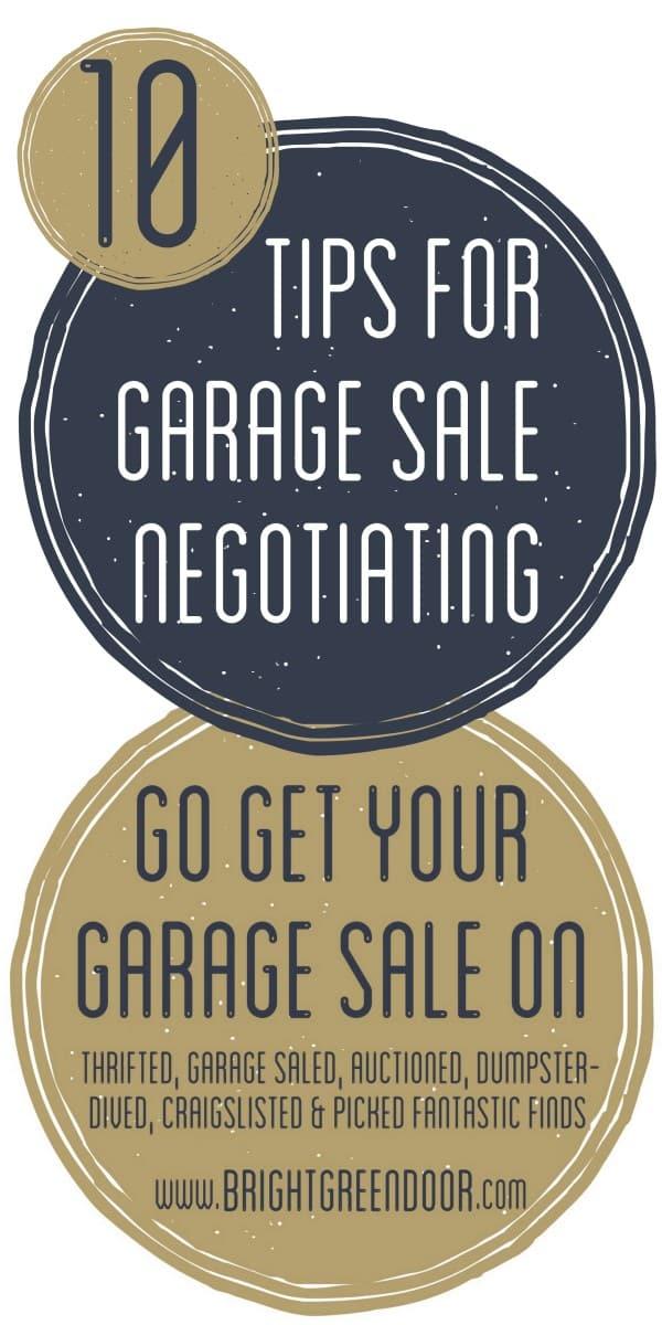 10 Tips For Garage Sale Negotiating