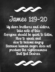 James 1:19-20 Free Chalkboard Printable