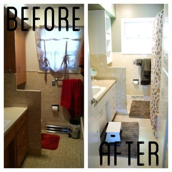 Painted Cabinet Bathroom Makeover