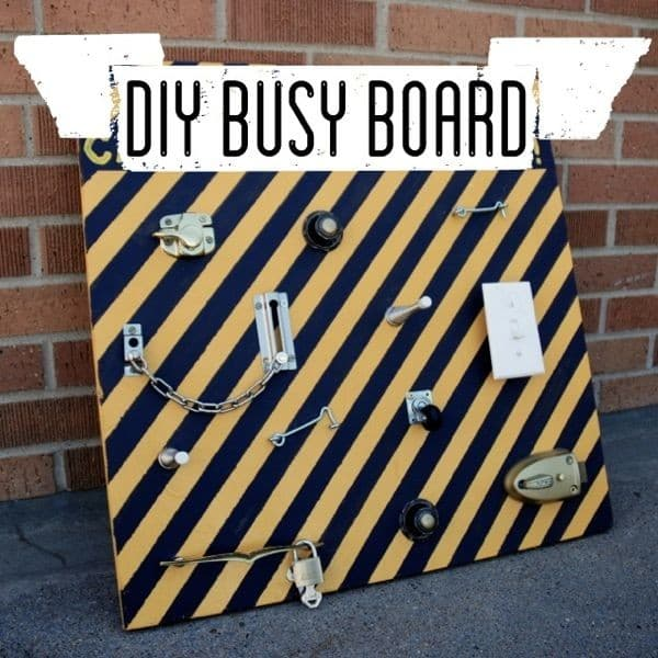 DIY Busy Board to Keep Kids Busy