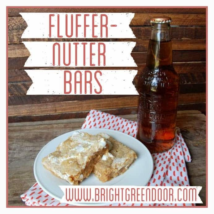 Fluffernutter Bars and Cream Soda for a Father's Day Treat