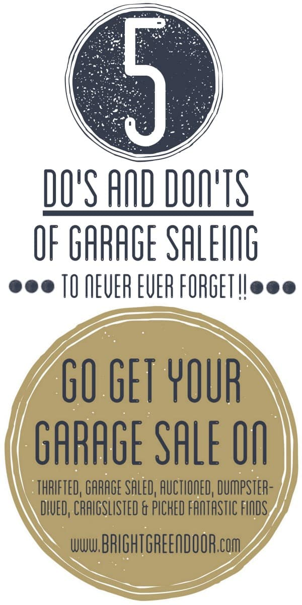 Five Do's and Don'ts of Garage Saleing