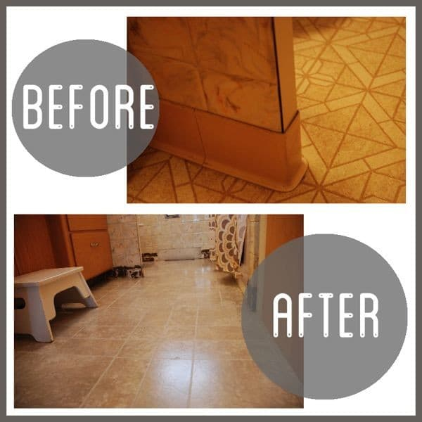 Simple Cheap Bathroom Flooring