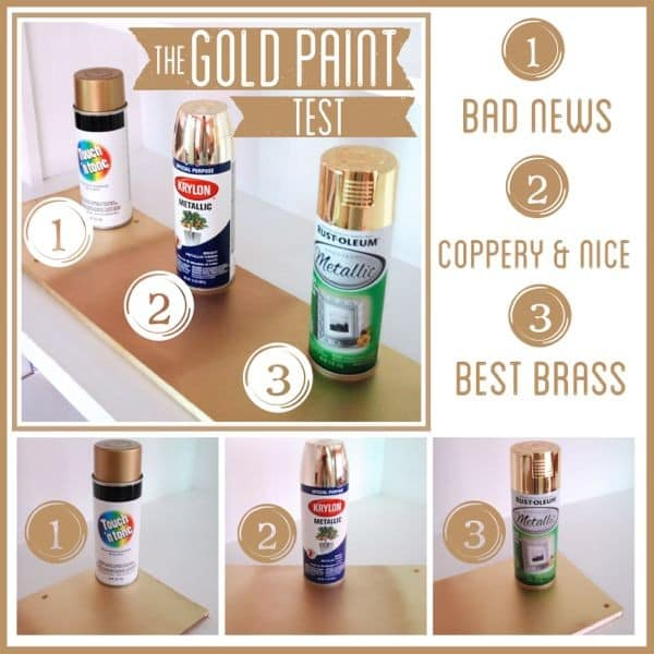Choosing Gold Spray Paint