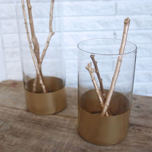 DIY Gold Dipped Vases