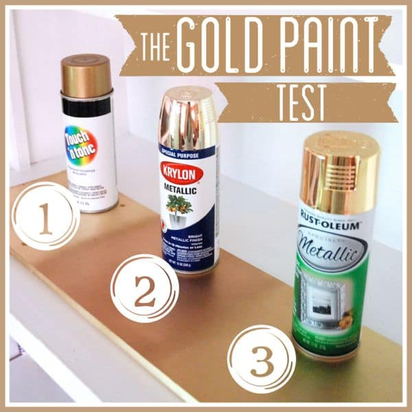 The gold spray paint test for How to make metallic paint