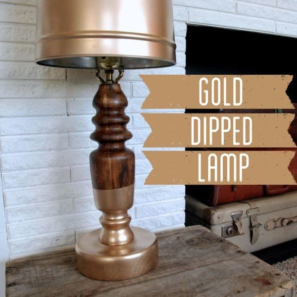 How to Gold Dip a Lamp