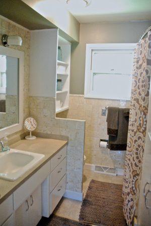 painted bathroom