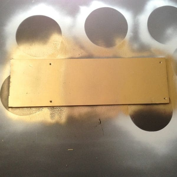 Testing Gold Spray Paint