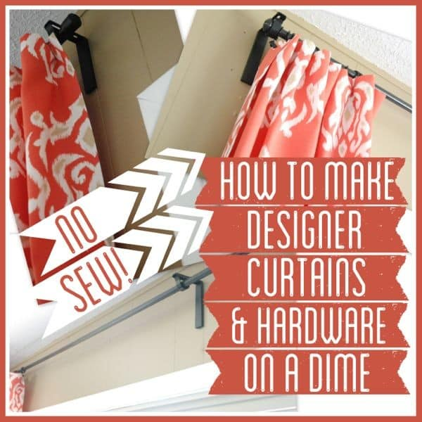 How to DIY Curtains without Sewing