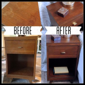 Mid-Century Nightstand Re-Do