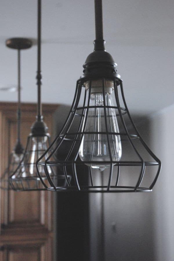 Diy Industrial Pendant Cage Light