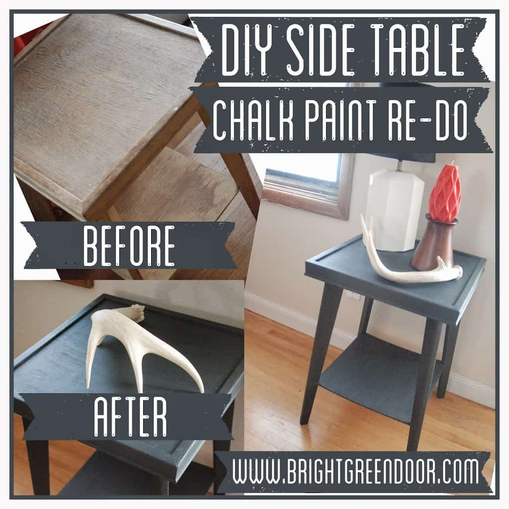 DIY Side Table Chalk Paint Re-Do