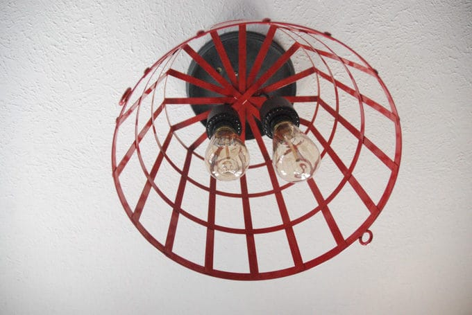 DIY Metal Basket Light