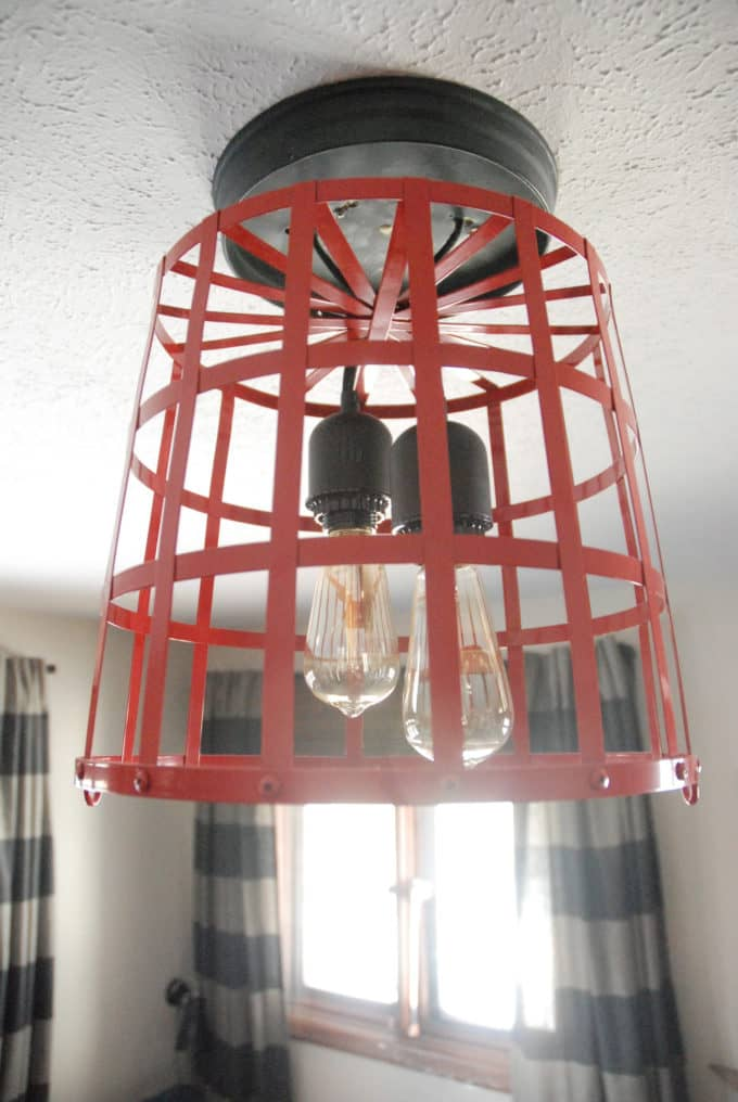 Metal Basket Made into a Light
