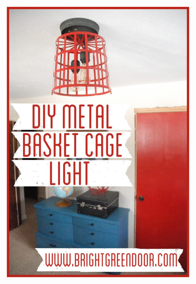 DIY Metal Basket Cage Light