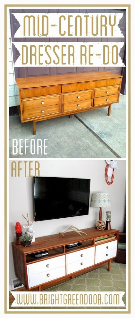 Mid-Century Dresser Made into a TV Stand