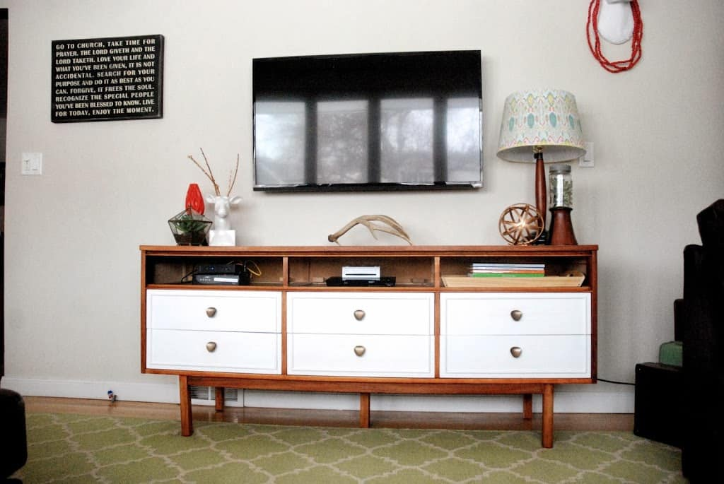 West Elm White and Acorn Two Tone Inspired Dresser