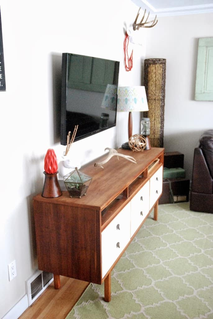 Mid Century Dresser with Drawers Removed for a TV console